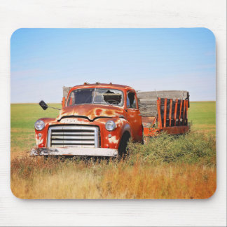 Abandoned farm truck mouse pad
