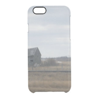 Abandoned Farmhouse Canadian Prairies Clear iPhone 6/6S Case