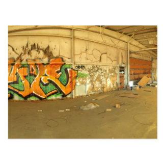 Abandoned Graffiti Postcard