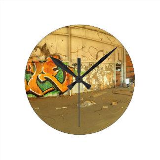 Abandoned Graffiti Round Clock