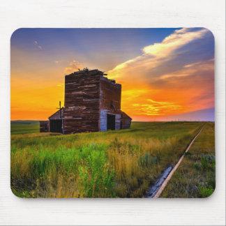 Abandoned Grain Elevator at Sunset Mousepads