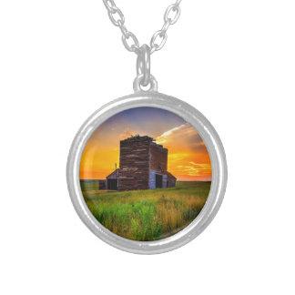 Abandoned Grain Elevator at Sunset Custom Jewelry