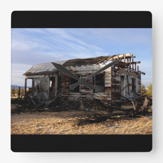Abandoned House In Kelso California Square Wall Clock