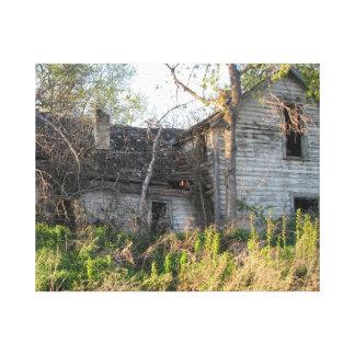 abandoned house rural art canvas print
