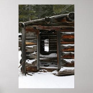 Abandoned Log Cabin, Colorado Poster