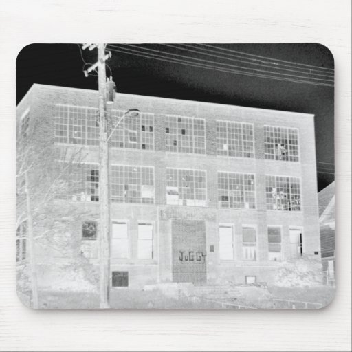 Abandoned Manufacturing Building - negative Mousepads