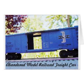 Abandoned Model Railroad Freight Car Card