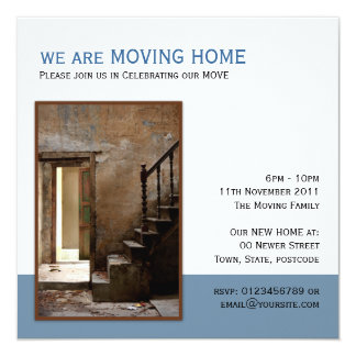 Abandoned Moving Home 5.25x5.25 Square Paper Invitation Card