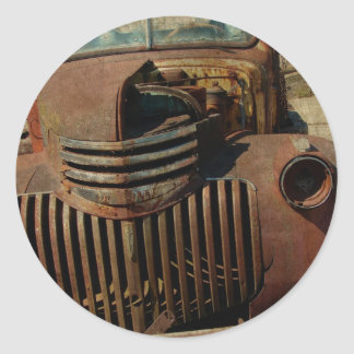 Abandoned Old Truck Classic Round Sticker