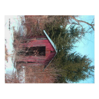 Abandoned Outhouse Postcard