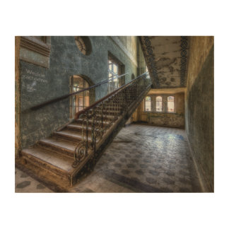 Abandoned Place wood canvas stairs wood canvas