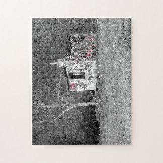 Abandoned punks hut artistic photo polish forest puzzles