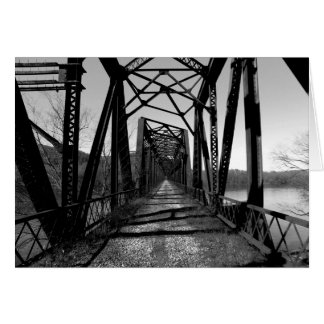 Abandoned RR Bridge b/w Note Card