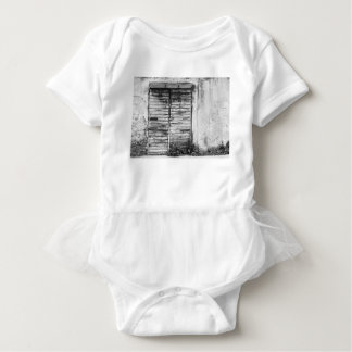 Abandoned shop forgotten bw baby bodysuit