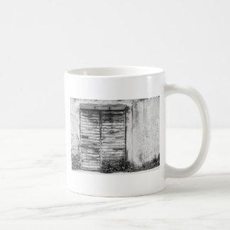 Abandoned shop forgotten bw coffee mug