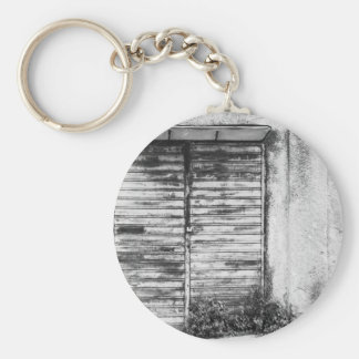 Abandoned shop forgotten bw key ring