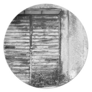 Abandoned shop forgotten bw plates