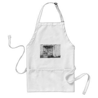 Abandoned shop forgotten bw standard apron