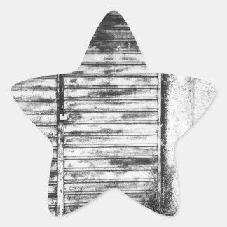 Abandoned shop forgotten bw star sticker