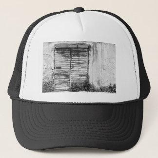 Abandoned shop forgotten bw trucker hat