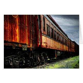 Abandoned Train - Blank Card