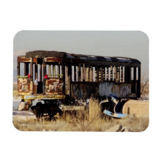 Abandoned Train Rectangular Photo Magnet