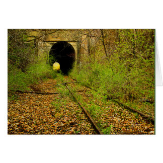 Abandoned train tunnel card