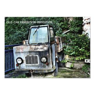 Abandoned truck on invitation