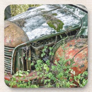 Abandoned Vintage Truck Coaster