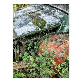 Abandoned Vintage Truck Postcard