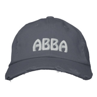 "ABBA - Aramaic word for ""father."" Embroidered Hat"