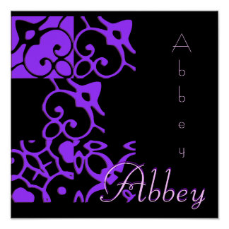 Abbey Designer Name II Poster