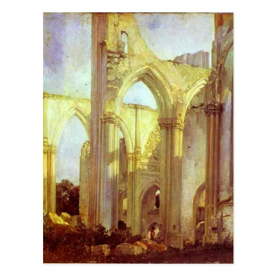 Abbey of St. Berlin, near St. Omer by Richard Postcard