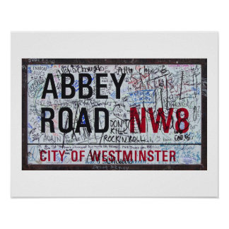 Abbey Road Sign Graffiti Vintage