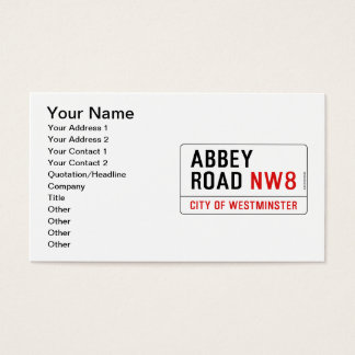 Abbey Road Street Sign Business Card