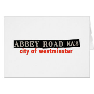 Abbey Road Westminster Card