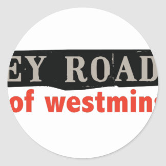 Abbey Road Westminster Classic Round Sticker