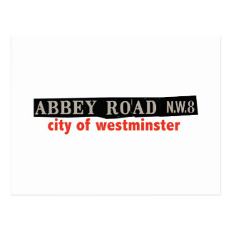 Abbey Road Westminster Postcard