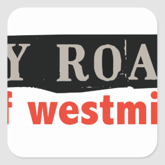 Abbey Road Westminster Square Sticker