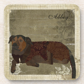Abbey Rose Personalized Coaster