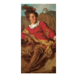 Abbot Dressed as Spaniard by Fragonard Personalized Photo Card