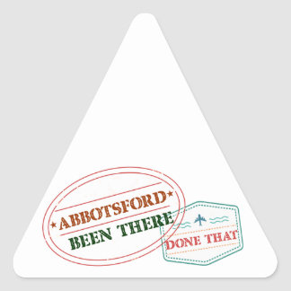 Abbotsford Been there done that Triangle Sticker