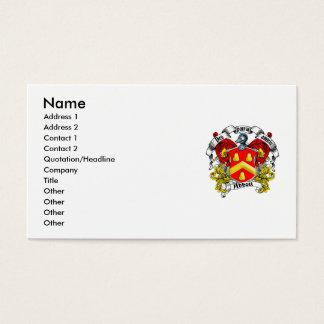 Abbott Family Crest Business Card