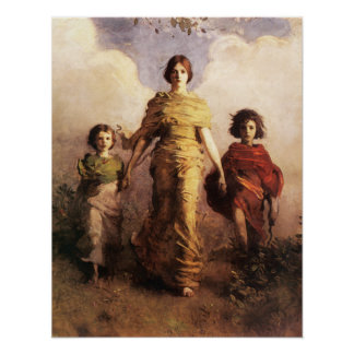 Abbott Handerson Thayer A Virgin Poster