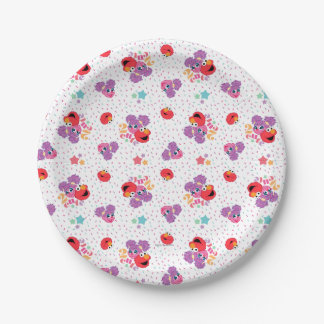 Abby And Elmo 2 Cute Pattern 7 Inch Paper Plate