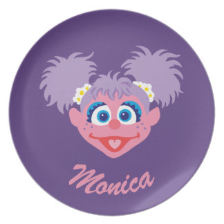 Abby Cadabby Face | Add Your Name Party Plate