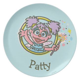 Abby Cadabby Vintage | Add Your Name Party Plate