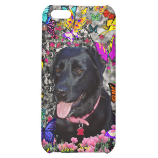 Abby in Butterflies - Black Lab Dog iPhone 5C Case