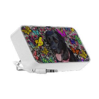 Abby in Butterflies - Black Lab Dog Mini Speakers