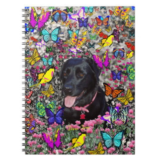 Abby in Butterflies - Black Lab Dog Note Books